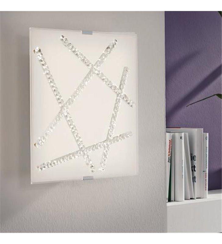 Plafon Sorrenta 365 kwadratowy kryształy