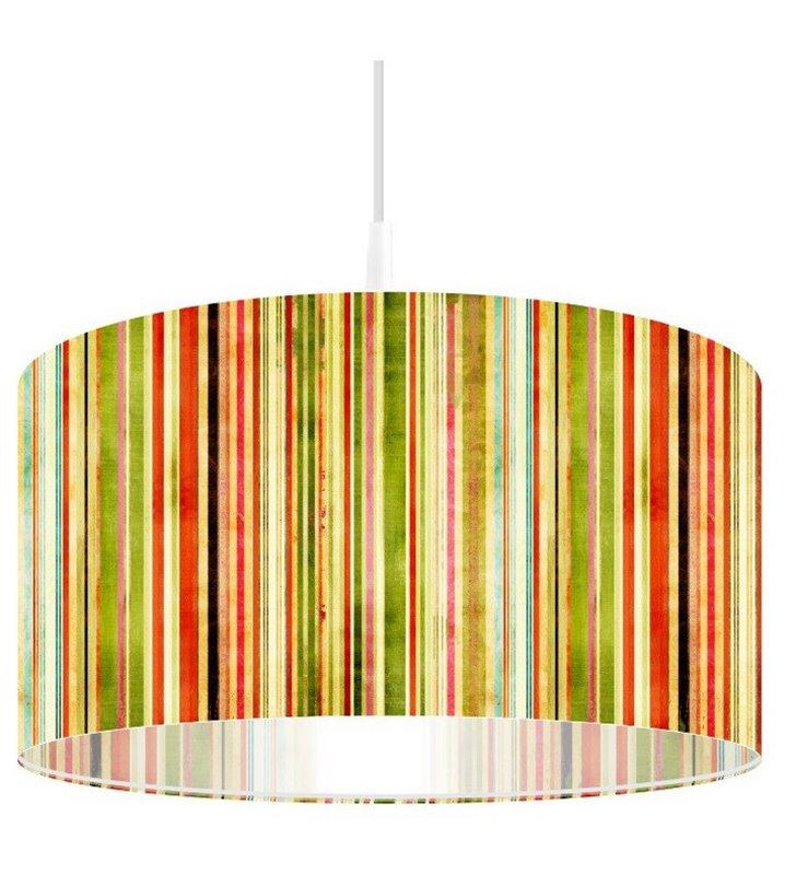 Lampa wisząca Pasy Jesieni nadruk w kolorowe pasy