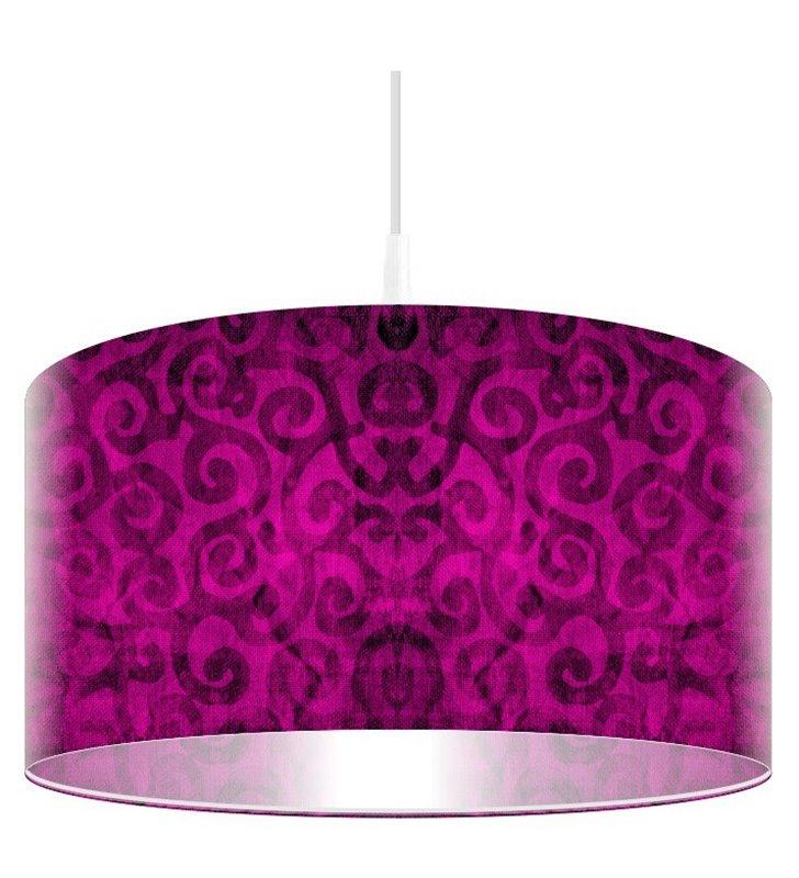 Lampa wisząca Różowy Pląs abażur z nadrukiem