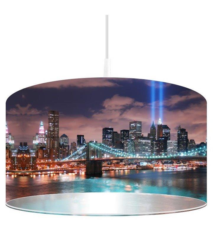 Lampa wisząca nadruk miasta Manhattan Nocą
