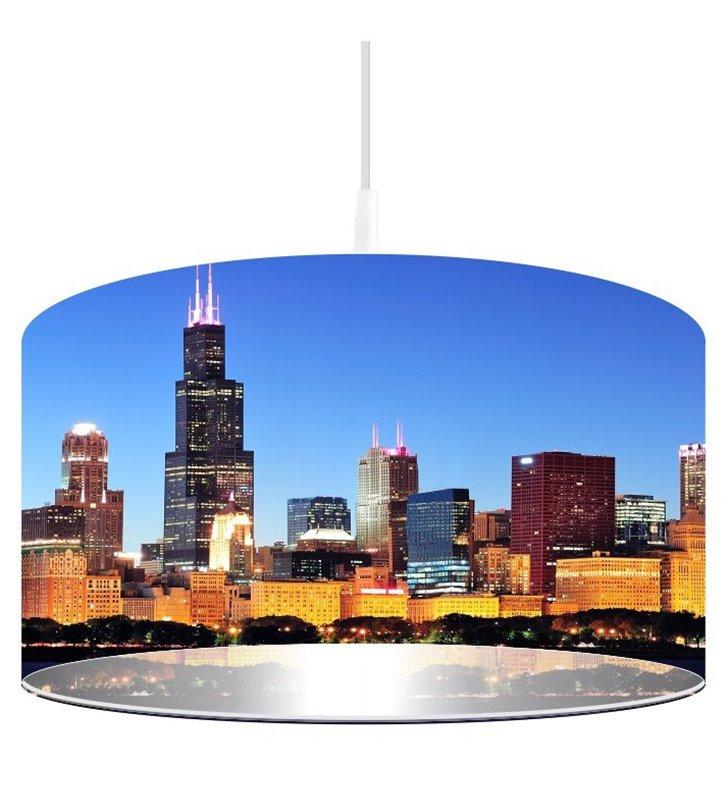 Lampa wisząca Chicago abażur z nadrukiem