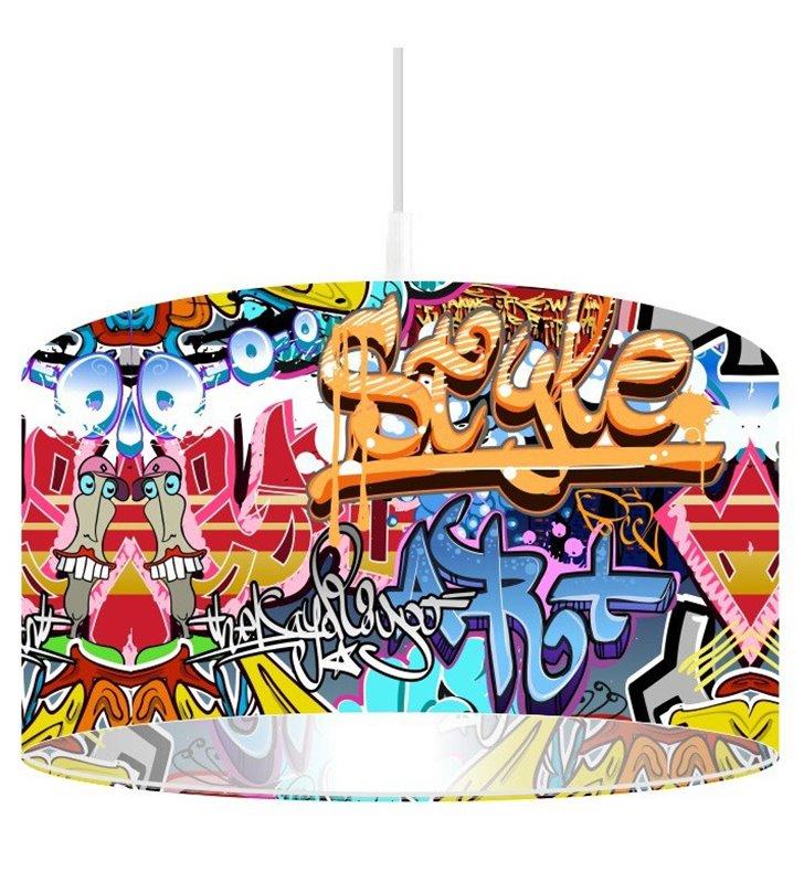 Wielokolorowa lampa wisząca Grafitti Style np. dla nastolatka