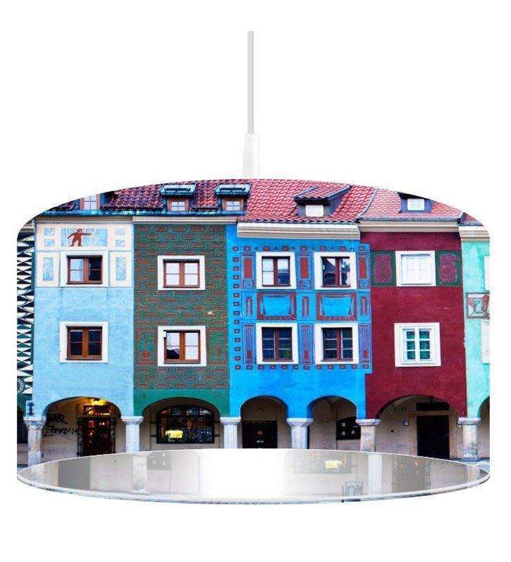 Lampa wisząca Stary Poznań kolorowa