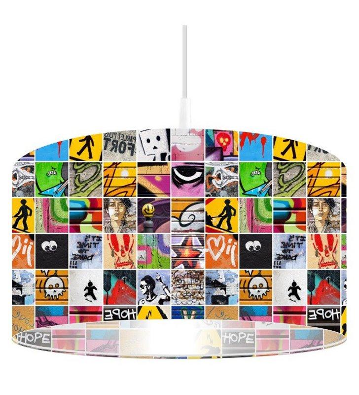 Lampa wisząca Grafitti Teens kolorowa do pokoju dziecka nastolatka do kuchni nowoczesnego salonu