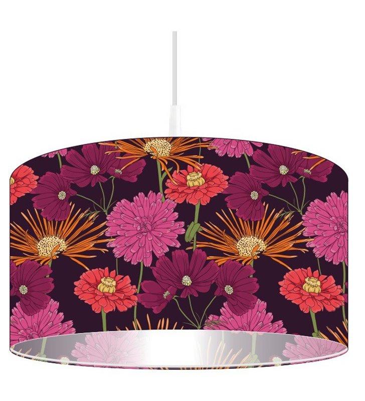 Lampa wisząca w kolorowe kwiaty Bukiet Astrów