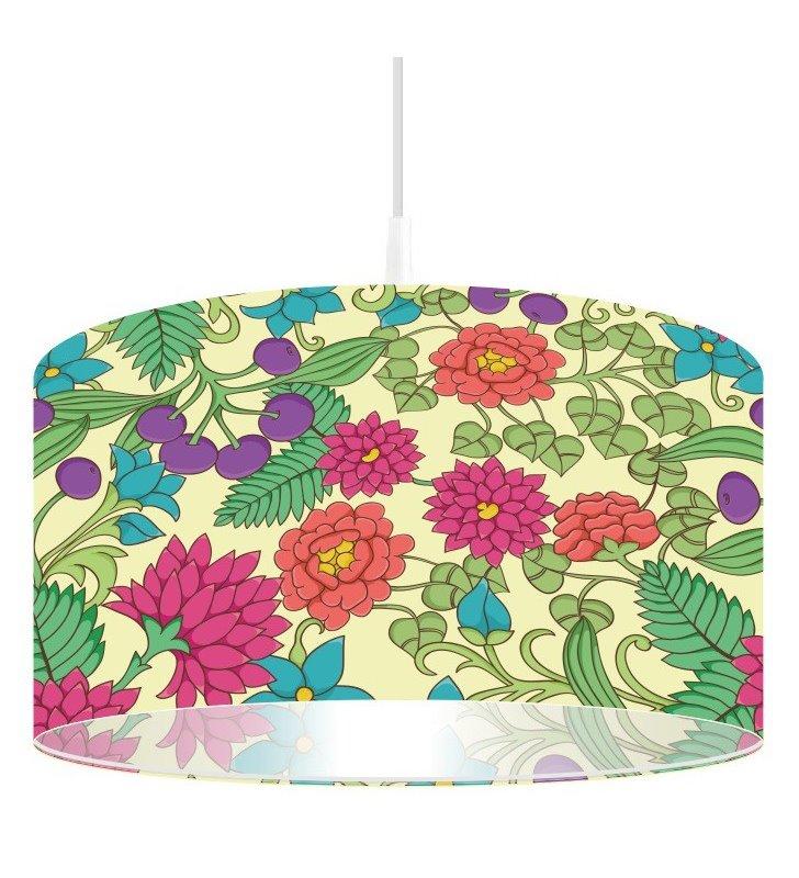 Lampa wisząca Wiosenna Łąka w kolorowe kwiaty