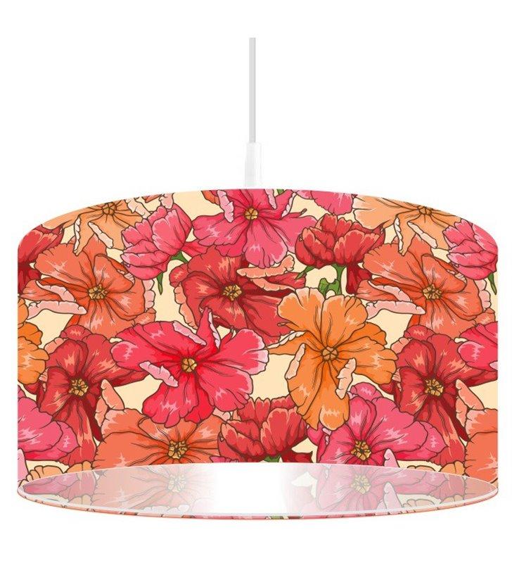 Kolorowa lampa wisząca Kwiaty Jesieni