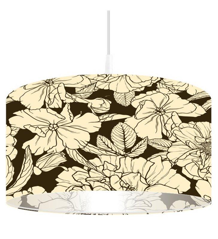 Lampa wisząca Bukiet Gardeni z kwiatowym wzorem