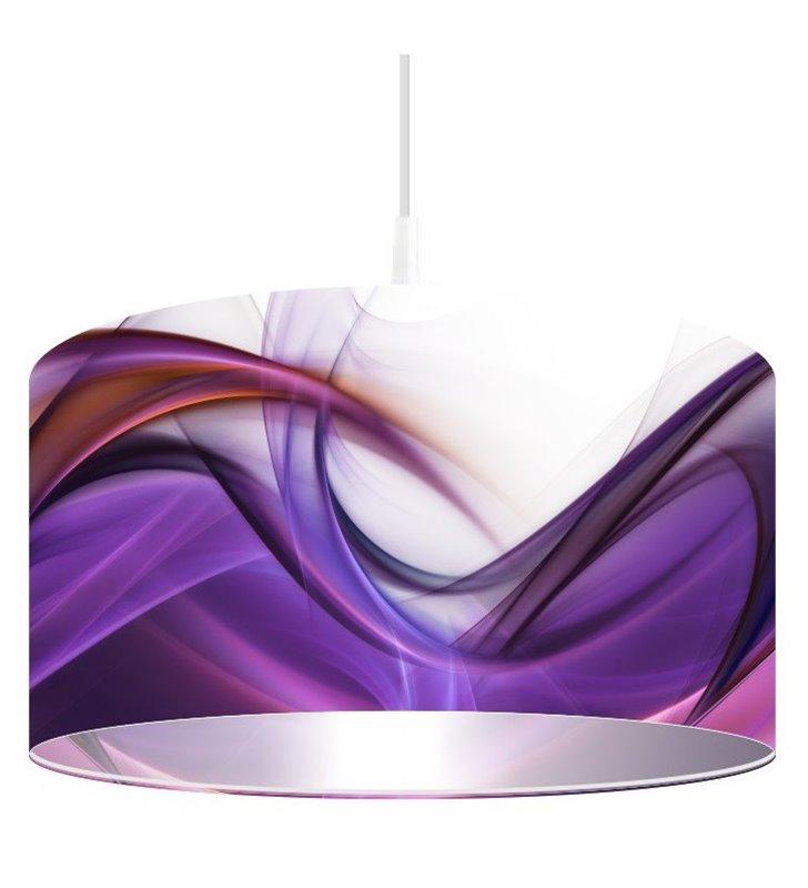 Lampa wisząca Magia Fioletu nadruk na kloszu w odcieniach fioletu