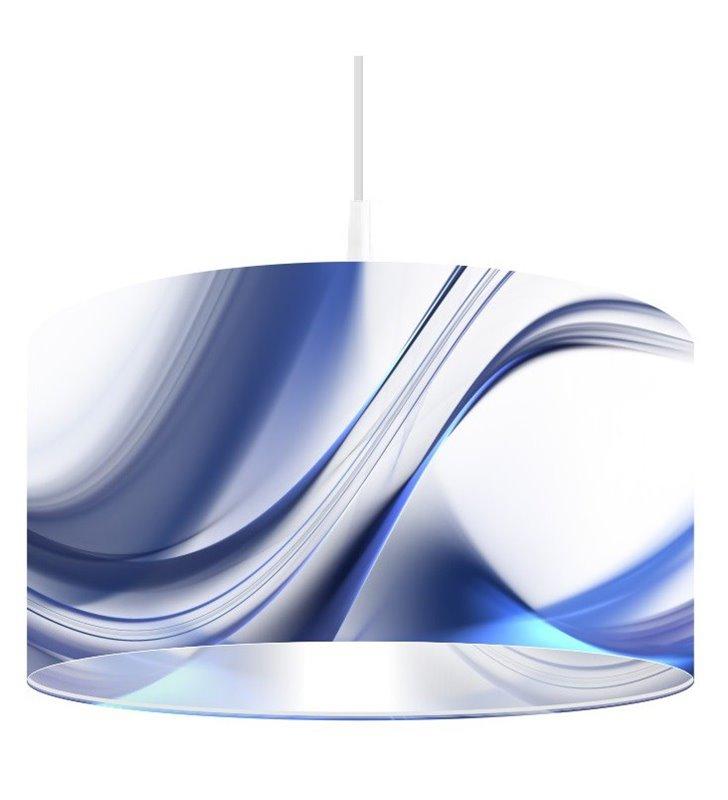 Lampa wisząca Magia Delikatności z kolorowym nadrukiem na kloszu