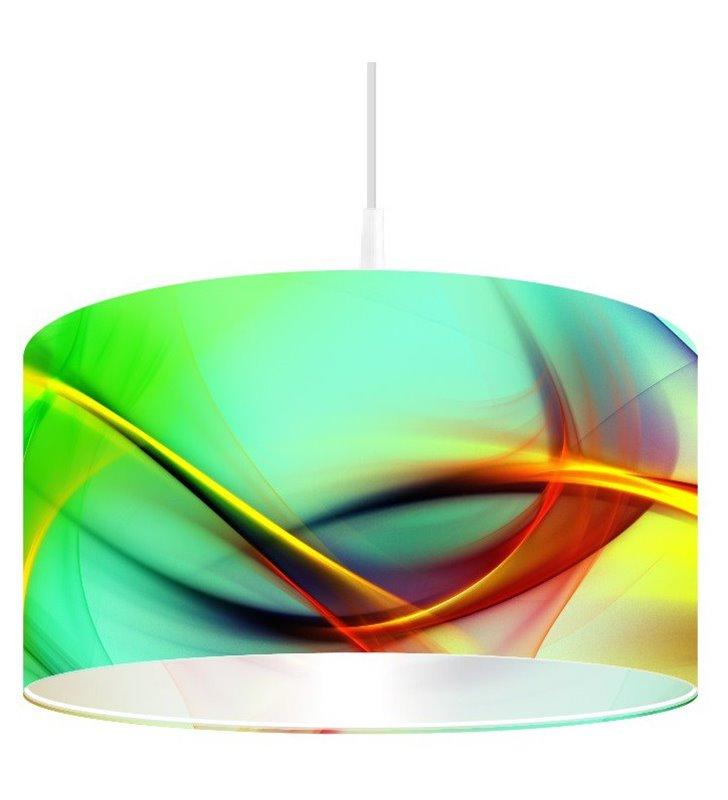 Lampa wisząca Magia Jaskrawości nadruk w intynsywnych kolorach