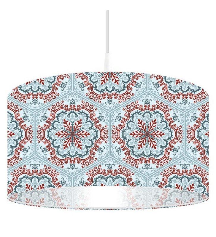Lampa wisząca Etno Aranżacja kolorowa wzorzysta