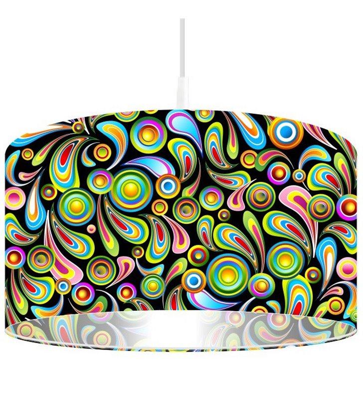 Kolorowa lampa wisząca Magia Pawich Piór do kuchni jadalni pokoju dziecka do salonu