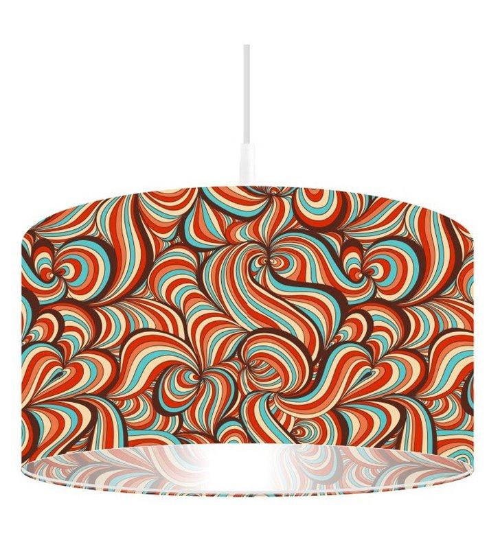 Lampa wisząca Radosny Pląs abażur z kolorowym nadrukiem