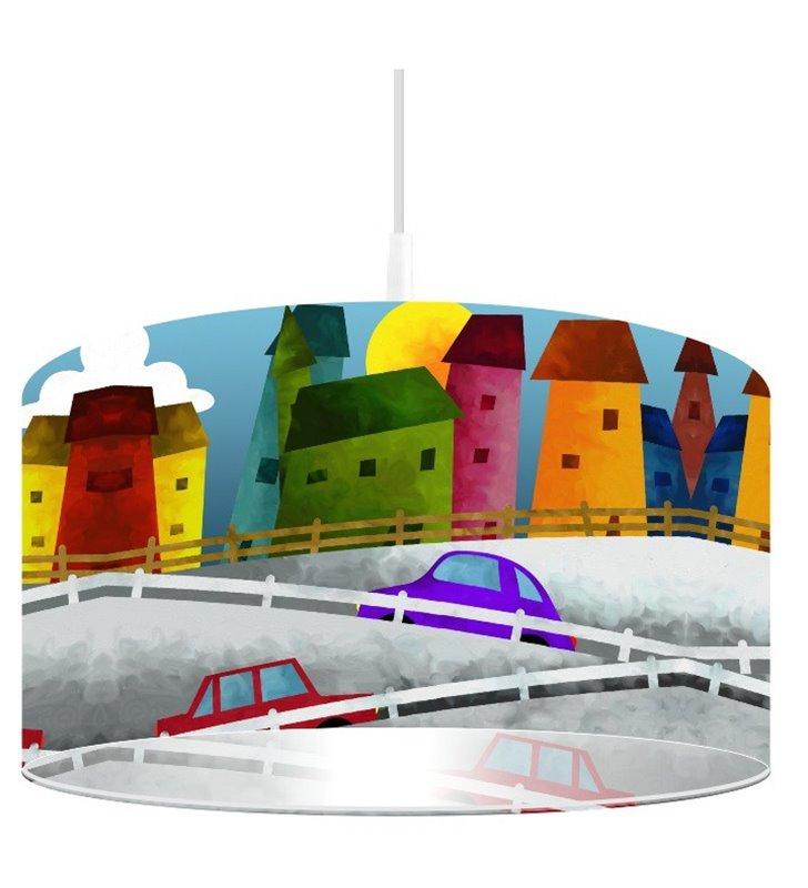 Lampa wisząca Bajkowa Uliczka kolorowe do pokoju dziecka