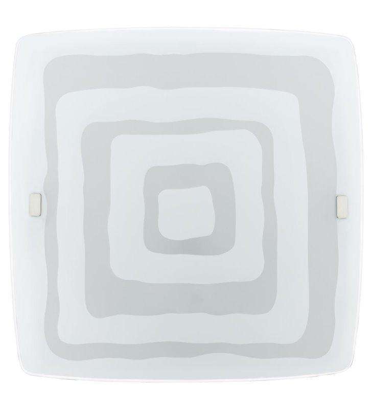 Plafon Borgo 510 duży szklany kwadratowy ze wzorem na kloszu