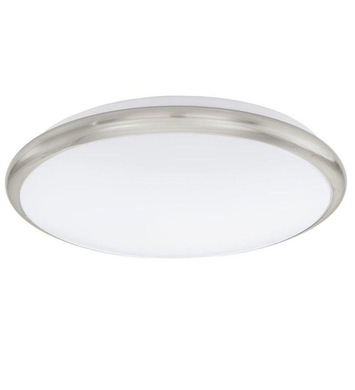 Plafon Manilva 30cm LED nikiel satynowany ciepła barwa światła