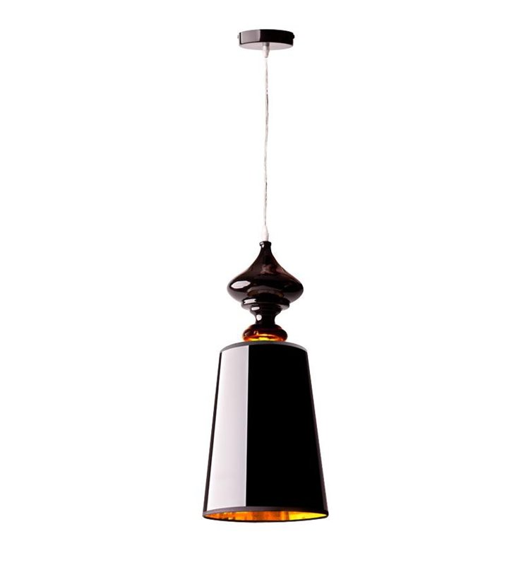 Lampa wisząca Alaska Czarna styl glamour do salonu jadalni sypialni kuchni