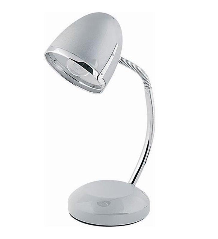 Srebrna lampa biurkowa Pocatello Silver