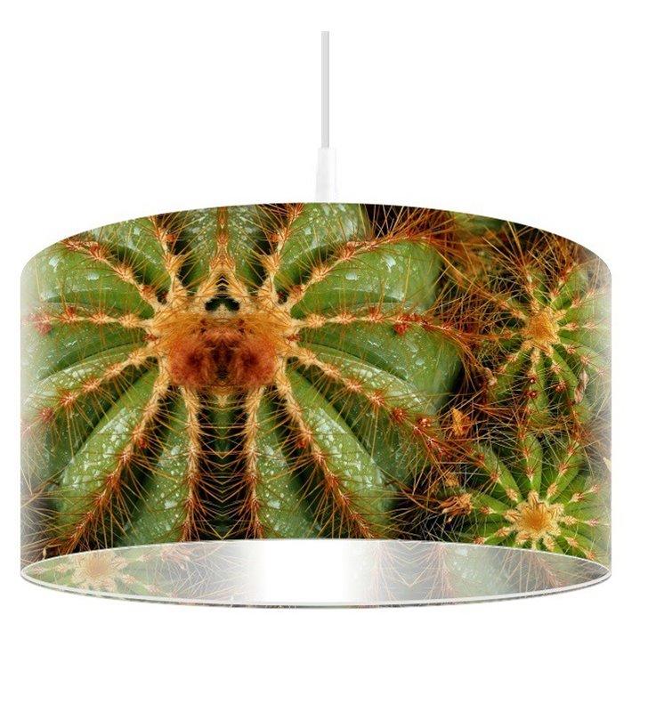 Lampa wisząca abażur z nadrukiem Ostry Kaktus