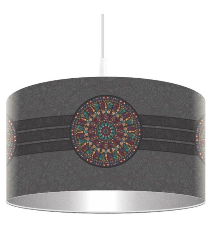Lampa wisząca Rozeta ciemna nowoczesna okrągła