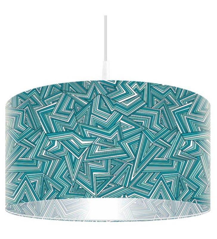 Lampa wisząca Ostry Turkus nadruk w intensywnych kolorach