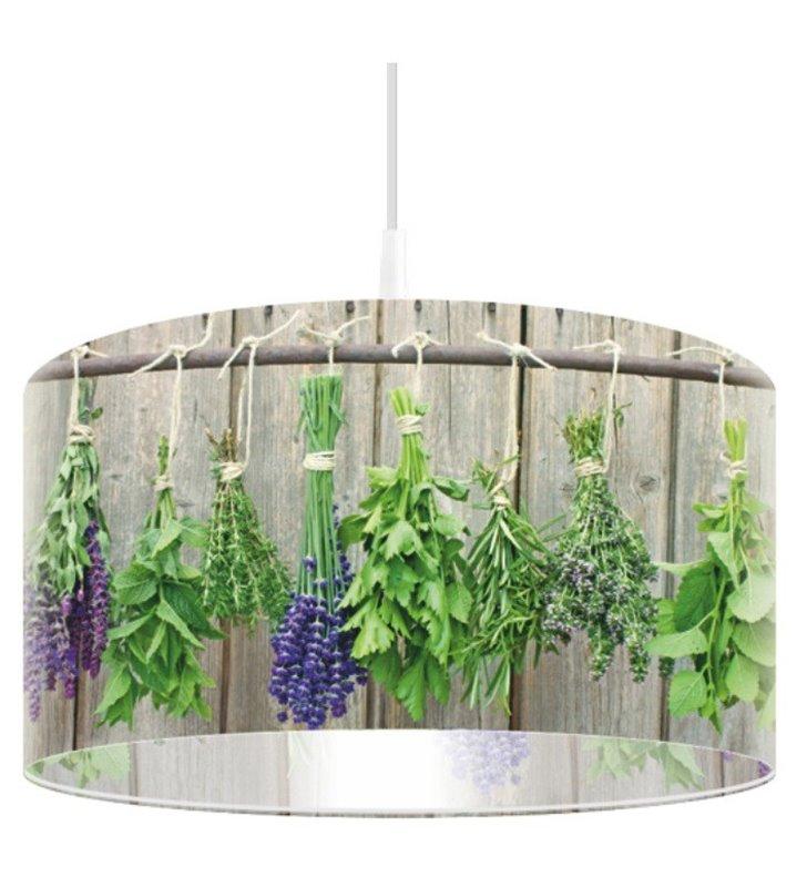 Lampa wisząca Bazylia i Oregano abażur z nadrukiem do kuchni jadalni