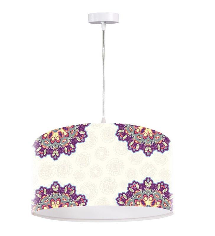 Lampa wisząca Delikatny Ornament jasna ze wzorem