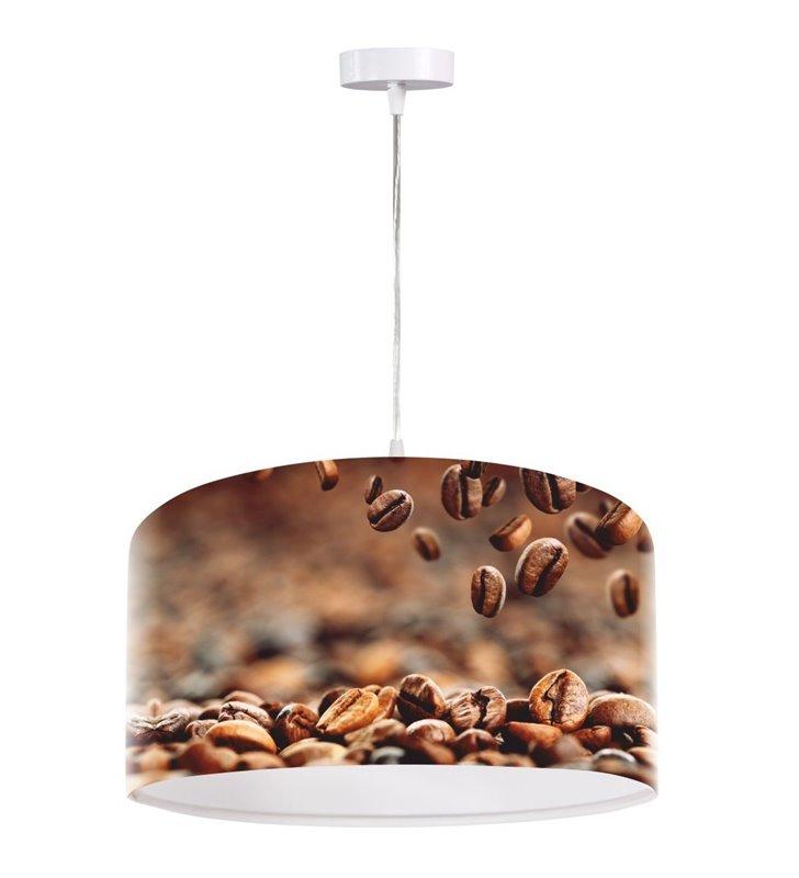 Lampa wisząca Aromatyczna Kawa abażur z nadrukiem do kuchni jadalni kawiarni restauracji