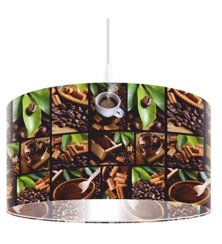 Lampa wisząca Kawowy Rytuał kolorowy nadruk kawy