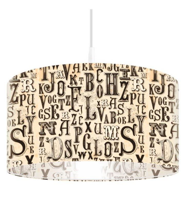 Lampa wisząca Gotycki Alfabet do salonu sypialni pokoju młodzieżowego