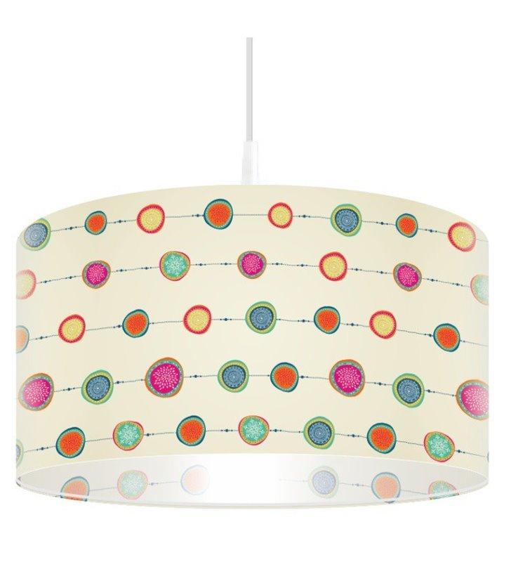 Lampa wisząca Kolisty Szał 1 kolorowa abażur z dekoracyjnym wzorem - DOSTĘPNA OD RĘKI