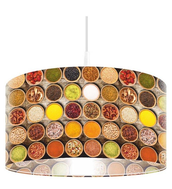 Kuchenna lampa wisząca z nadrukiem przypraw Garam Masala