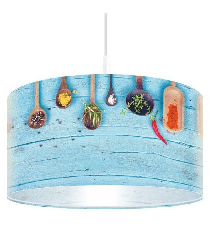Lampa wisząca Pełnia Smaku i Koloru kolorowa z przyprawami np. do kuchni jadalni restauracji baru