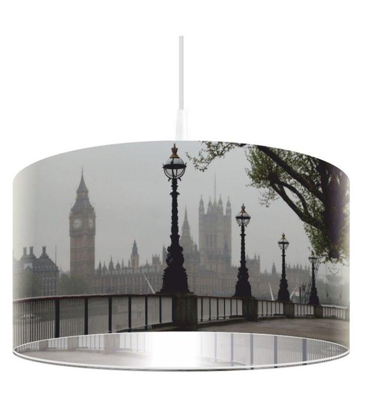 Lampa wisząca Mglisty Londyn nadruk