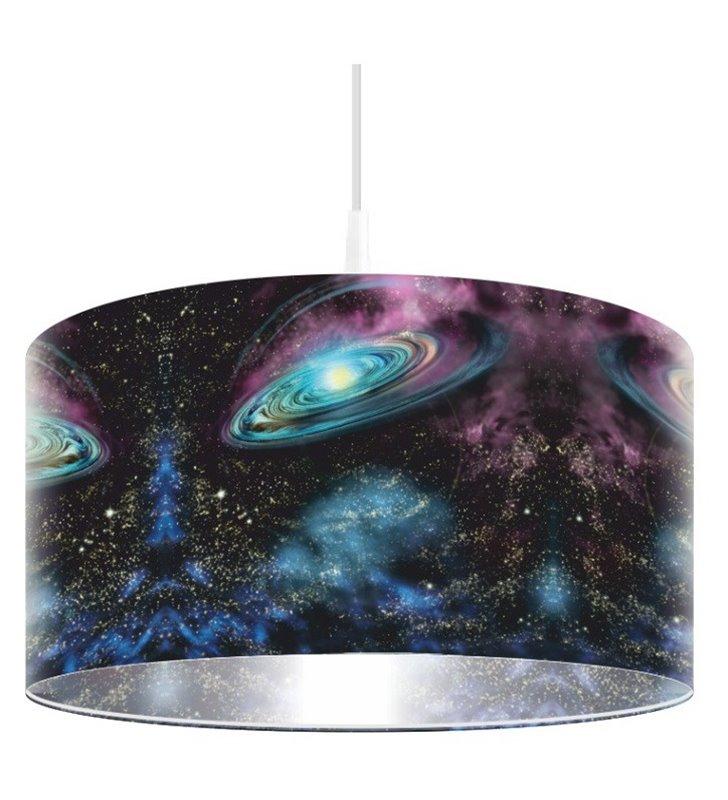 Lampa wisząca Kosmiczna Galaktyka np. do pokoju chłopca