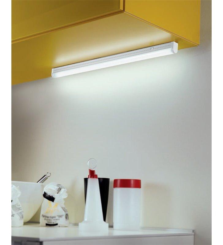 Oprawa podszafkowa Enja LED biała z włącznikiem wąska