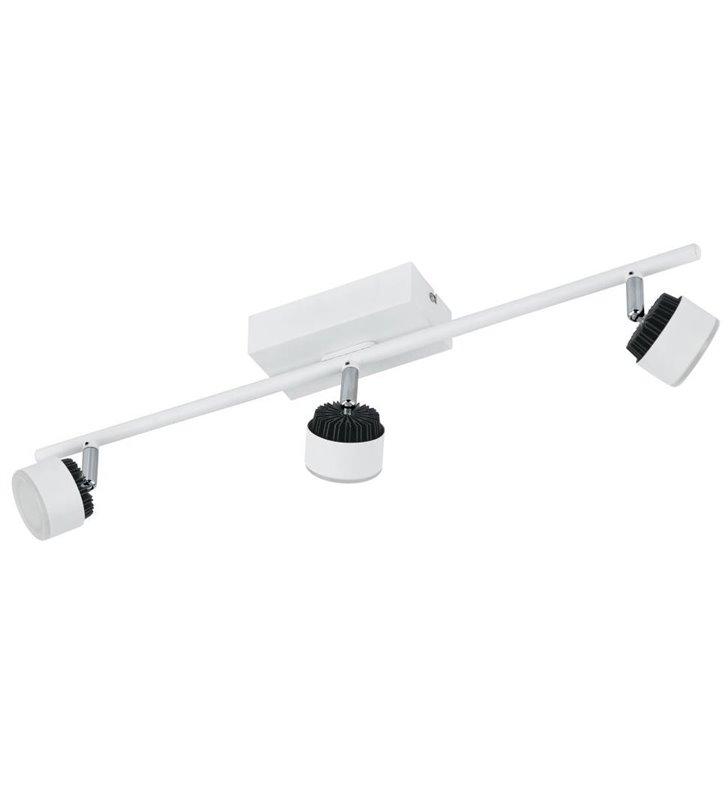 Lampa sufitowa Armento potrójna biała z czarnymi detalami listwa spot styl nowoczesny - OD RĘKI