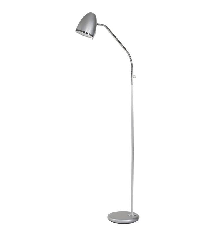 Lampa podłogowa Tampa Silver srebrna z giętkim ramieniem
