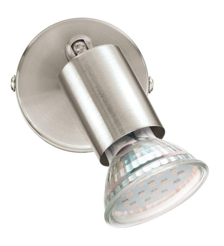 Kinkiet Buzz-LED nikiel satyna żarówka GU10 bez klosza