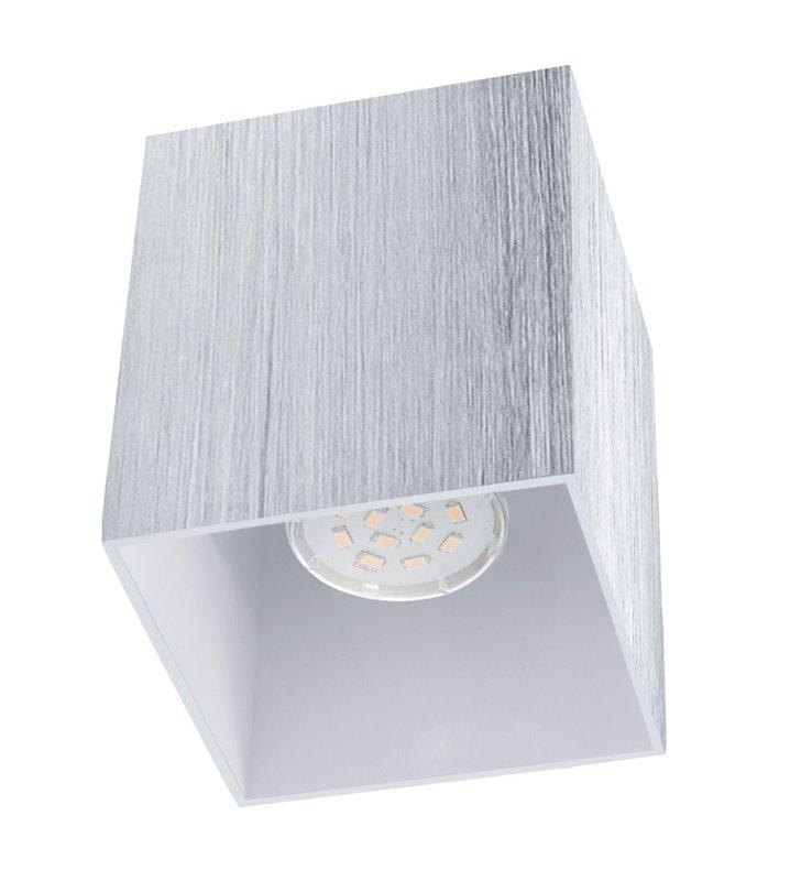 Lampa sufitowa Bantry2 downlight kwadratowa kolor aluminium żarówka LED
