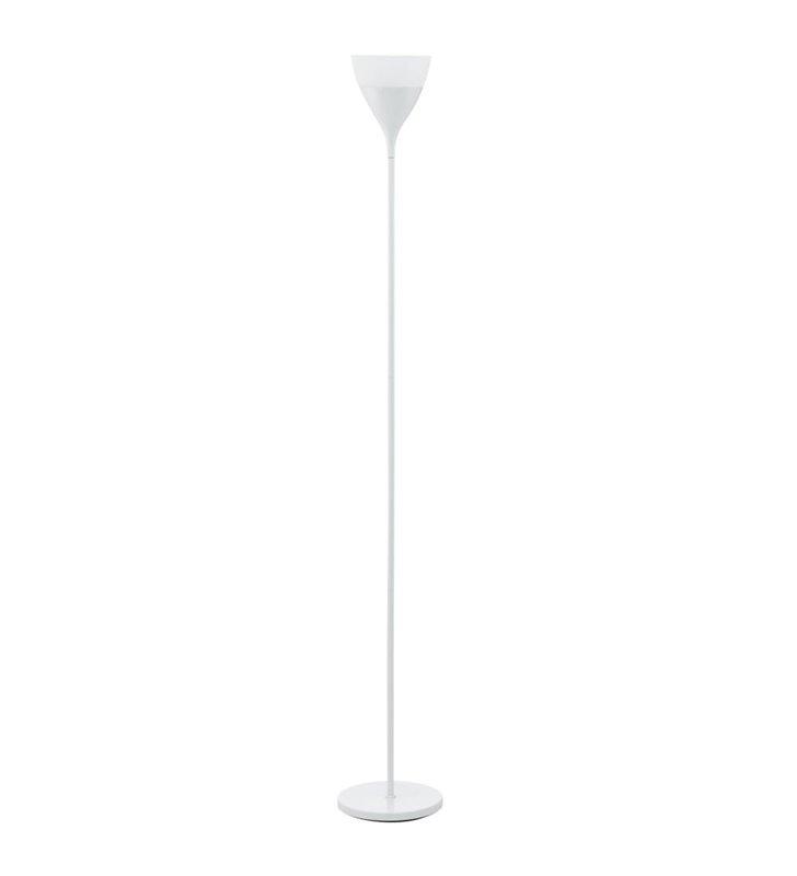 Lampa podłogowa Spello biała z dodatkowym ramieniem do czytania