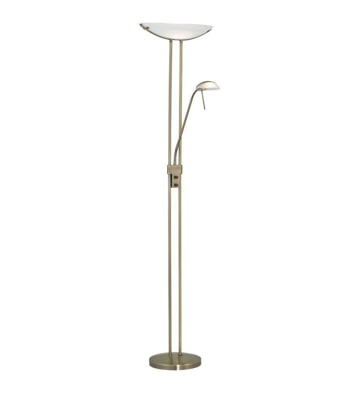 Lampa podłogowa Baya patyna z dodatkowym ramieniem do czytania