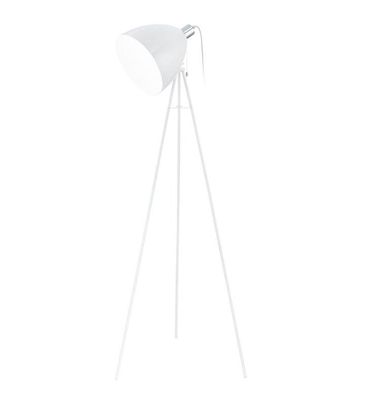Lampa podłogowa Don Diego biała trójnóg