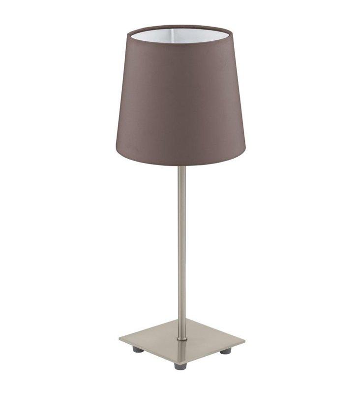 Lampa stołowa Lauritz z brązowym abażurem