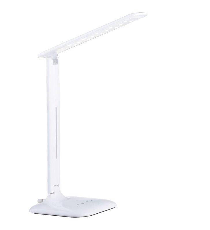 Lampa biurkowa Caupo biała ze ściemniaczem dotykowy regulacja barwy światła