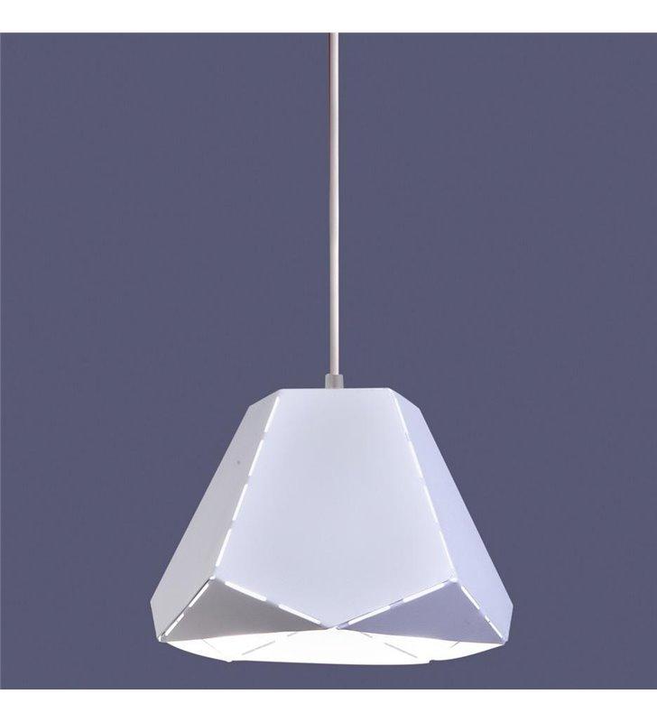 Lampa wisząca Diamond biała geometryczna nowoczesna - DOSTĘPNA OD RĘKI