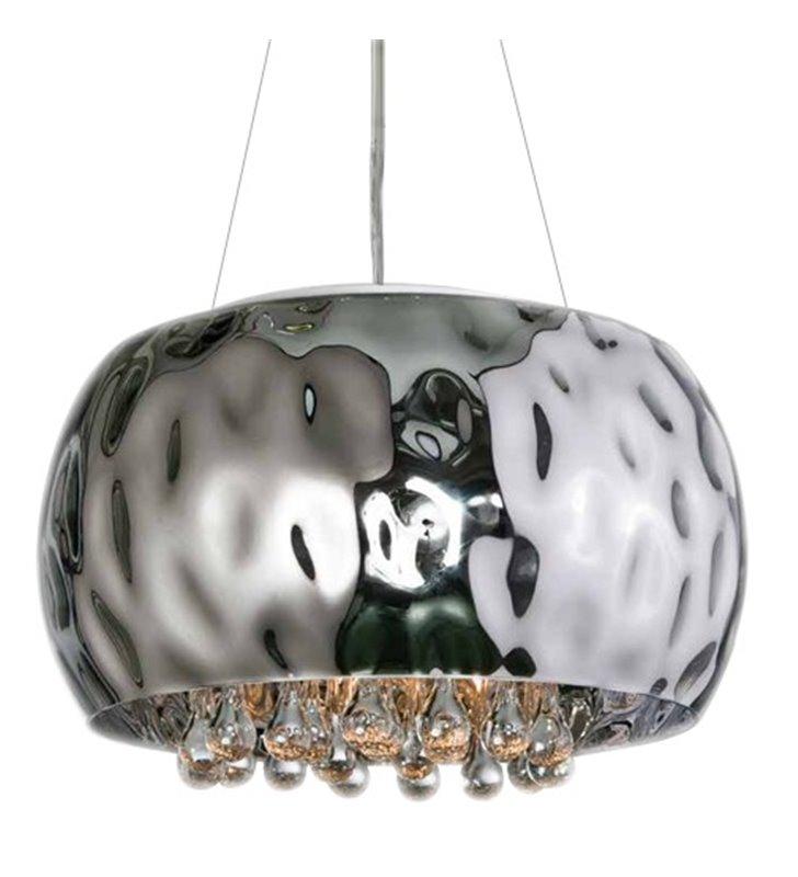 Lampa wisząca Caldo elegancka z podłużnymi szklanymi ozdobami