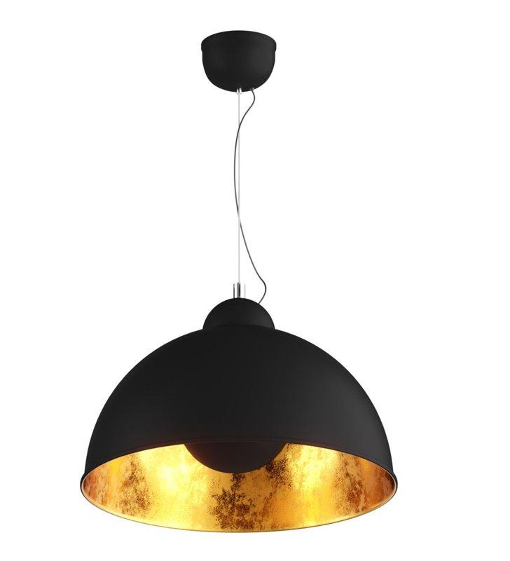 Czarno złota metalowa lampa wisząca Antenne średnica 38cm