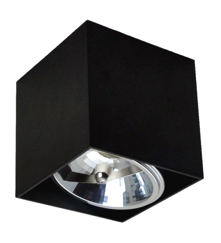 Czarna kwadratowa lampa downlight sufitowa Box oprawa ruchoma